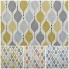 Hour Glass Retro Cotton Panama Print Curtain Blinds Cushion Upholstery Fabric