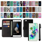 For Huawei P8 Lite Design Flip Wallet Card POUCH Case Phone Cover + Pen