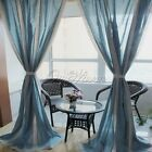 Vintage Country Style Lace Crochet Cotton Linen Curtain Home Living Room Decor
