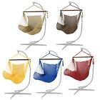 5 Colors Cotton Rope Hammock Chair with Wood Spreader Bar...