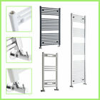 Curved and Flat Heated Towel Rail Radiator Bathroom Central Heating Ladder Rad