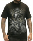 Sullen Clothing Dominick Taylor Badge Mens T Shirt Tee Black Skull Tattoo Goth