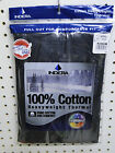 Men's 100% Cotton Heavyweight Thermal Top or Bottom Black S-3X