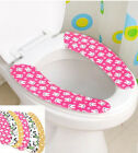 Details about  1 Pair Toilet Seat Covers Closestool Stick Universal Washable Re
