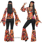 4-26 Willow Hippie Chick Costume 60s 70s Disco Ladies Hippy Fancy Dress Outfit