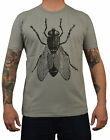 Men's Annex Fly T-Shirt Giant Big Real Insect Print Alternative Graphic T-Shirt