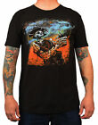 Men's The Reckoning by David Lozeau Western Outlaw Skeleton Tattoo Black T-Shirt
