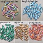 "Handmade Unique Premium Paper Beads Hand Rolled & Sealed~ 1"" x 5/8"" (25mm x 8mm)"