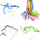 New Wedding Confetti Stream Ribbon Sticks Wands with Bell Garland Party Favors