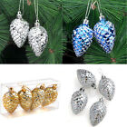 Xmas Party Ornament Shiny Glitter Pinecone Hanging Home Christmas FUN! Decor LS