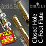 More images of CIBAILI Gold and Silver C-foot FLUTE •  16-keys CHC • NEW • Free Express Post •