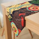 RED Sunflowers POINSETTAS TAPESTRY TASSELS WEDDING PARTY BED TABLE RUNNER CLOTH