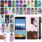 For LG K8V VS500 TPU SILICONE Rubber Soft Protective Case Cover + Pen