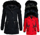 MARIKOO Damen Winter Jacke Parka Winter Mantel Winterjacke Elle Wasserfest