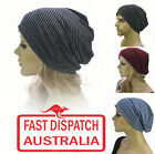 Ladies Men Slip On Slouch Stretch Cotton Hat Cap Hair Loss Beanie Chemo Headcove