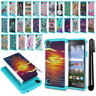 "For LG Tribute HD LS676 X Style 5"" X Skin Hybrid Shock Proof Case Cover + Pen"