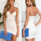 Women Lace Sleeveless Backless Bodycon Cocktail Evening Pencil Mini Dress N98B