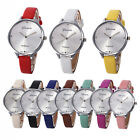 Fashion Women Geneva Watch Thin Leather Bracelet Watch Quartz Analog Wristwatch