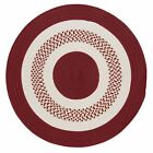 Flowers Bay Indoor Outdoor Round Braided Rug, Red FB71  ~ Made in USA