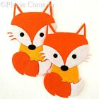 Set of 3 Laser Cut Felt Fox with/without Iron On Transfer Backing Applique
