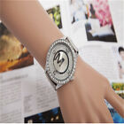 Women's Men's H3racelet Stainless Steel Crystal Diamonds Quartz Wrist Watch H3