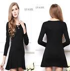 5 Colors Women's Cotton Long Sleeve Winter Warm Evening Party Pencil Dress S M L