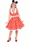 Rock & Roll , Mini Mouse 50's Dress + Belt , XS-XXL