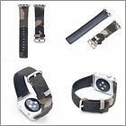 Camouflage Genuine Leather Strap Bracelet Watch Bands For Apple Watch Series1 2