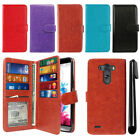 For LG G3 D850 D851 LS990 VS985 D855 Flip Card Holder Wallet Cover Case + Pen