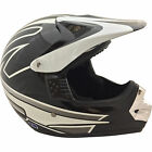 Raptor MX Off Road Helmet Black/Silver Youth Sizes