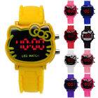 Fashion Lovely Girl Kids LED Silicone Rubber Jelly Gel Quartz Wrist Watches
