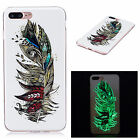 Fluorescence Luminous Soft Clear TPU Case Cover Glow In The Dark For Celephones
