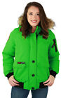 Canada Weather Gear Women's Faux Down Goose Bomber Winter Jacket Coat