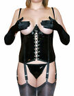 NYLONZ 6 Strap Cupless PVC Basque with 6 Suspenders