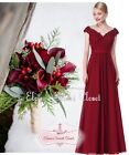 LORI Cranberry Red Beaded Embellished Prom Evening Party Bridesmaid Dress 8 - 20