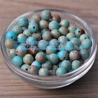 4~8mm Round Natural Light Blue Chrismatite Gemstone Stone Loose Beads