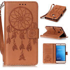 Cute Various Brown PU Leather Magnetic Flip Wallet Cover Case For Samsung Iphone