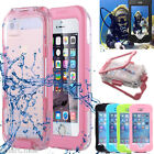 Diving Waterproof SnowProof Transparent Case Cover for iPhone SE 5S 6S 7 Plus