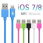 Genuine MFI Lightning 8 Pin USB Data Cable Sync Charger For Apple iPhone 5 5s 6