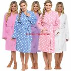 WOMENS LADIES WAFFLE 100% COTTON SUMMER DRESSING GOWN ROBE gowns