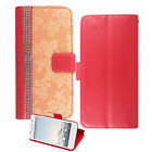 Luxury PU Leather Magnetic Flip Stand Wallet Cover Case For Various Mobile Phone <br/> *New Arrival Stock*DAMASK CASE*DIAMOND &amp; FLOWER DESIGN*