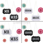 """Mr & Mrs"" ""BRIDE"" Funny Letter Garland Banner Wedding Party Photography Props"