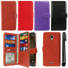 "For Alcatel Fierce 4 Allura 5056 Pop 4+ 5.5"" Card Holder Wallet Cover Case + Pen"