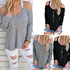 Women Long Sleeve Casual Pullover Sweater Shirt Tops Ladies Loose Blouse Jumper