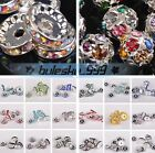 4~12mm Czech Crystal Rhinestone Glass Charms Loose Spacer Beads Jewelry Findings