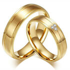 Wedding Engagement Stainless Steel Golden Couples Promise Rings Valentine's Gift