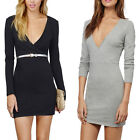 New Women Sexy Deep V-neck Bandage Bodycon Evening Party Cocktail Clubwear Dress