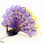 3D Peacock Greeting Card Paper Cutting Valentine Gift Wishs Invitation Card