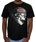 Harley Davidson Mens Screaming Skull w/ Trademark B&S Black Short Sleeve T Shirt