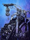 Hard Conflict, Glorious the Triumph by David Lozeau Motorcycle Canvas Art Print